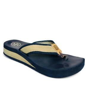 Tory Burch Thong sandals Navy blue Flip Flops